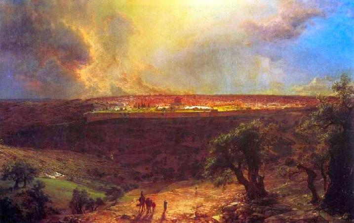 ירושלים, בתיאורו של צייר