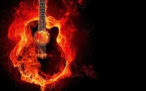 גיטרה שריפה